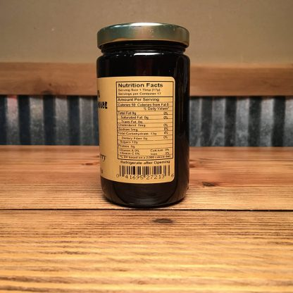 Seedless black raspberry preserves label