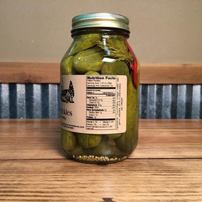 Dilled Pickles label