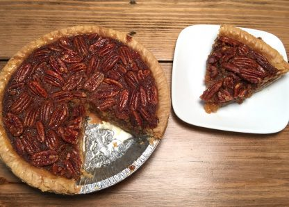 Sliced Pecan Pie