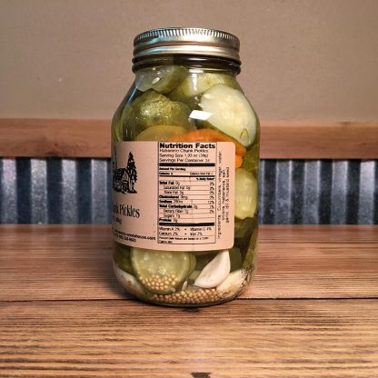 Habanero Chunk Pickles label