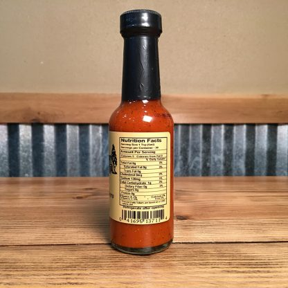 Fire Roasted Habanero Sauce label